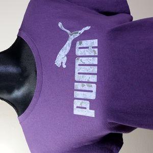 Puma Purple Tee Shirt with floral print PUMA Logo